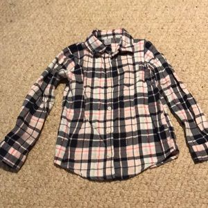 Girls flannel shirt size 6.